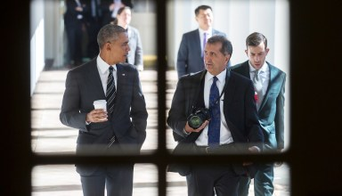 President Barack Obama and Chief White House Photographer Pete Souza in Focus Features' THE WAY I SEE IT