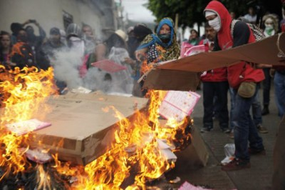 Incendian casilla en Oaxaca