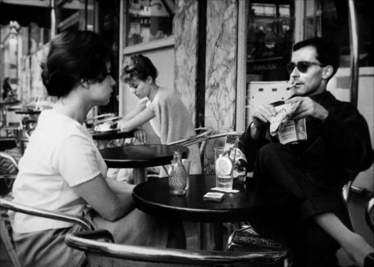 Betty Schneider and Jean-Luc Godard in 'Paris Belongs to Us'