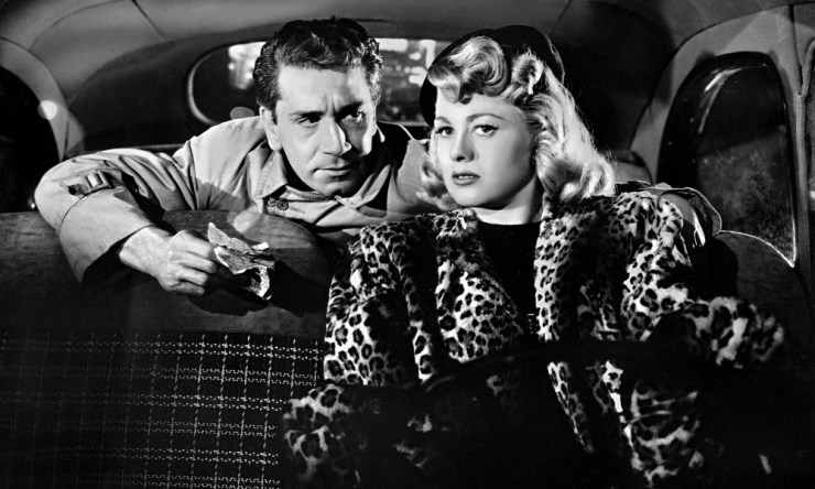 Richard Conte and Shelley Winters in 'Cry of the City'