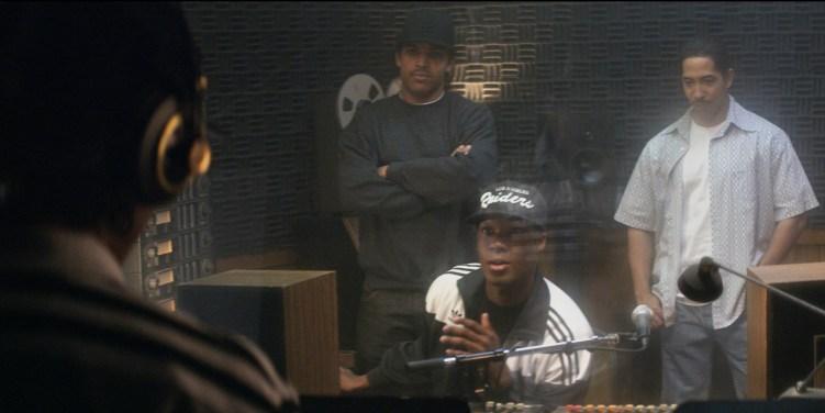 Straight-Outta-Compton-Movie-Recording-Boyz-N-tha-Hood-Scene