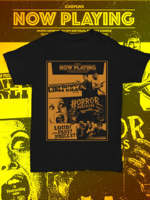 Be the envy of your neighbourhood with the brand new Cinepunx THE BRAND IS STRONG SHIRT!