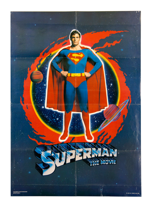 Superman the movie filmposter original affiche