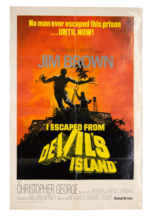 Original film poster I escaped from devil's island