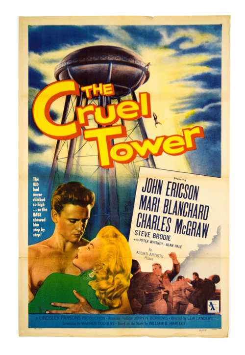 The Cruel Tower original vintage sci-fi poster