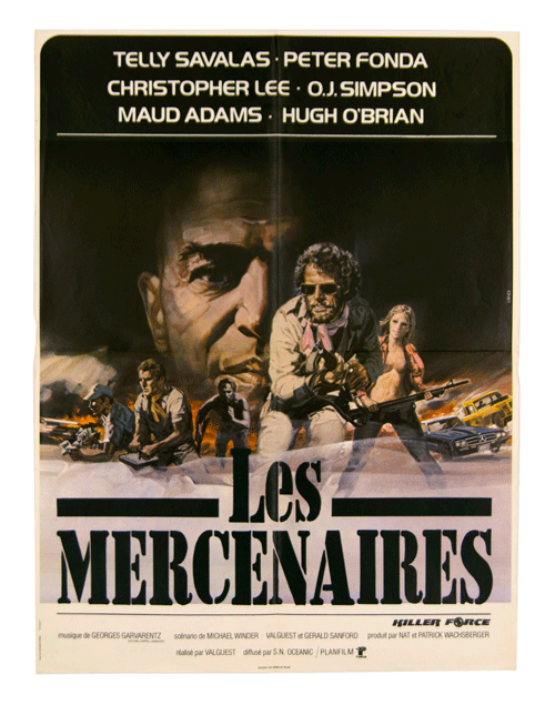 Les Mercenaires O.J. Simpson original film poster