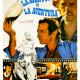 Original film poster of the Lelouch film 'L'aventure, c'est l'aventure'Jacques Brel Johnny Hallyday