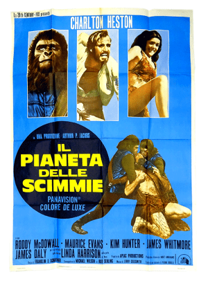 Planet of the Apes Italian movie psoter