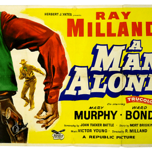A Man Alone poster