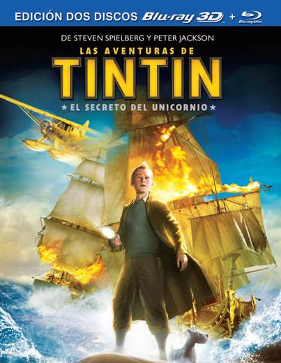 Carártula en Blu-Ray de Tintín