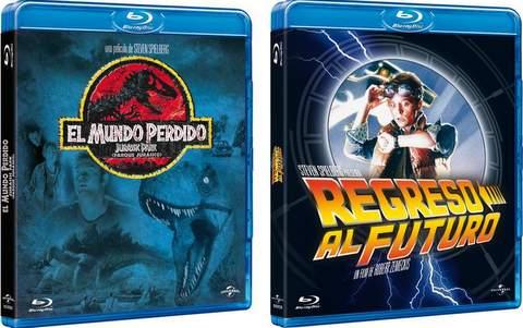 Jurassic Park y Regreso al futuro en Blu-Ray.