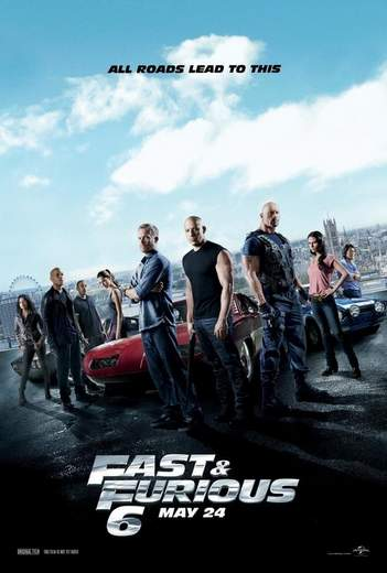 "Póster de ""Fast & Furious 6""."