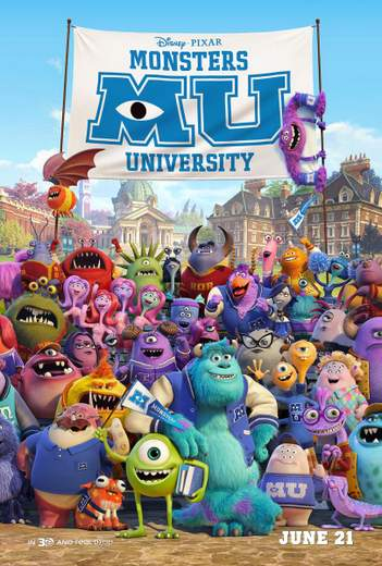 "Póster de ""Monstruos University""."