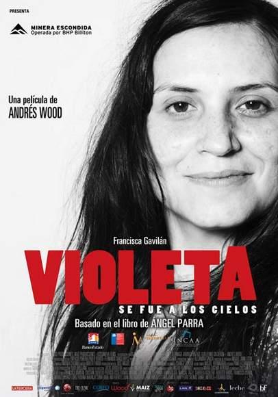 """Póster de """"Violeta se fue a los Cielos""""."""