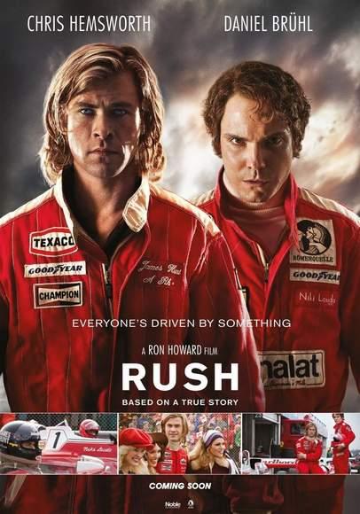 """Cartel de uno de los estrenos de la semana, """"Rush"""".."""