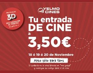 Yelmo cineplex entrada 3,50 euros