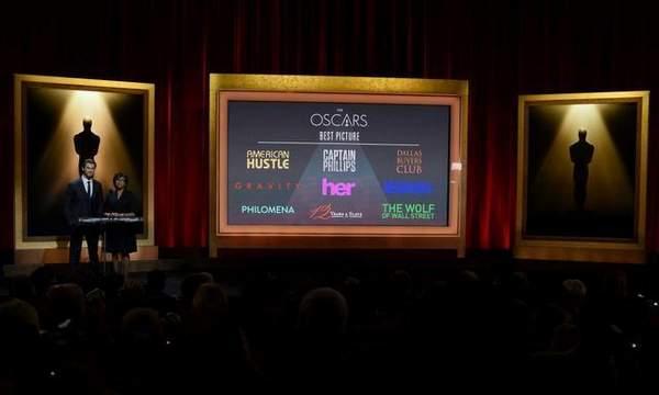 Nominaciones premios Oscar 2014