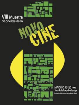 Cartel Novocine, muestra de cine brasileño