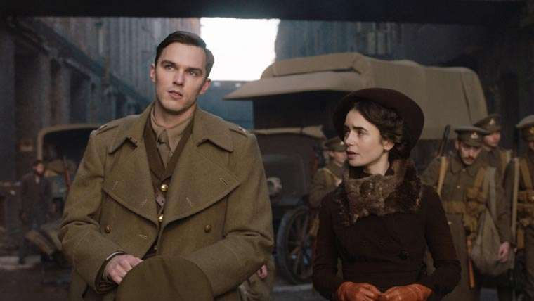 Tolkien, movie, biopic, nicholas hoult, Lily Collins, JRR Tolkien, Lord of the Rings