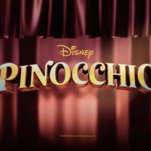 Pinocchio logo live action
