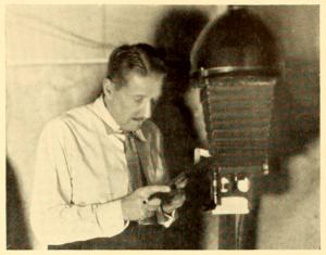Mr. Grant at work in his studio.