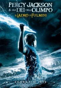 """Locandina italiana di """"Percy Jackson e gli dei dell'Olimpo: il ladro di fulmini"""""""