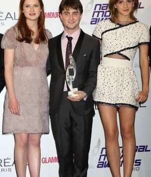 Bonnie Wright, Daniel Radcliffe ed Emma Watson