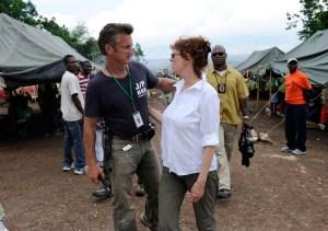 Sean Penn ad Haiti