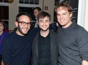 Il regista John Krokidas, Daniel Radcliffe e Michael C. Hall   © Andrew H. Walker / Getty Images