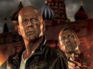 Bruce Willis e Jai Courtney, protagonisti di Die Hard - Un buon giorno per morire