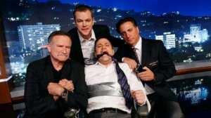 Robin Williams, Matt Damon, Jimmy Kimmel e Andy Garcia | © The Hollywood Reporter