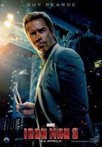 Guy Pearce nei panni di Dr. Killian nel character poster di Iron Man 3