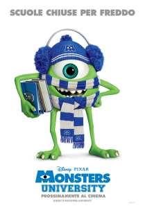 Monster University - il poster invernale
