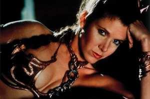 Carrie Fisher nei panni della Principessa Leila