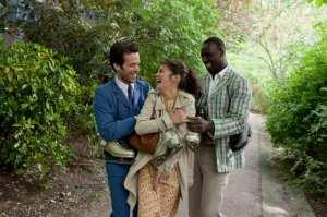 Roman Duris, Audrey Tatou e Omar Sy in una scena di Mood Indigo