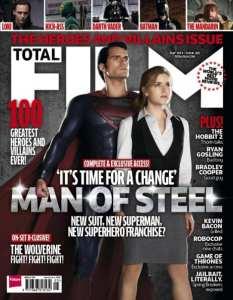 La cover di Total Film dedicata a L'uomo d'acciaio