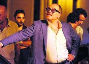 Carlo Verdone sul set de La grande bellezza