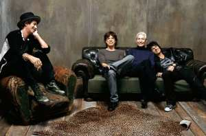 Gli attuali componenti dei Rolling Stones (Keith Richards, Mick Jagger, Charlie Watts, Ronnie Wood), protagonisti di Crossfire Hurricane
