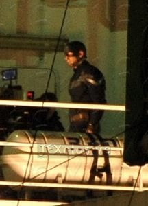 Chris Evans sul set di Captain America: The Winter Soldier