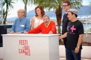 Michel Legrand, Kerry Bishe, Jerry Lewis, Daniel Noah e Kevin Pollak   © Stuart C. Wilson/Getty Images