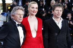 Roman Polanski, Emmanuelle Seigner e Mathieu Amalric | © Valery Hache/Getty Images