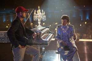 Steven Soderbergh e Michael Douglas sul set del film