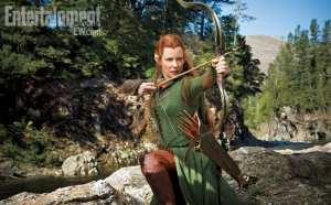 Evangeline Lilly nella nuova immagine de Lo Hobbit: La desolazione di Smaug