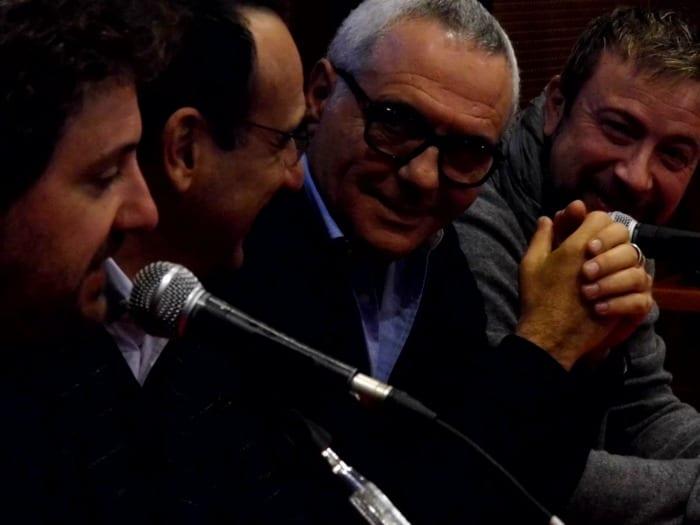 Leonardo Pieraccioni, Carlo Conti, Giorgio Panariello e Marco Masini