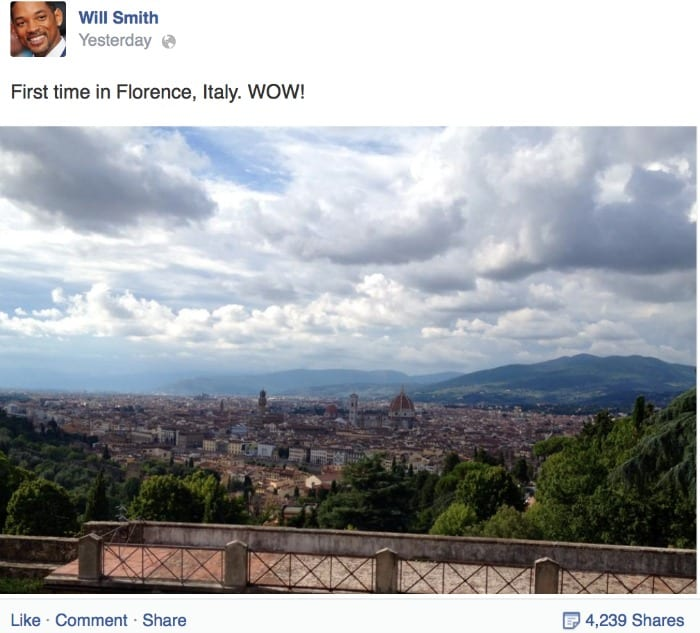 Will Smith a Firenze