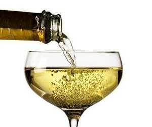 Una bottiglia di champagne costoso