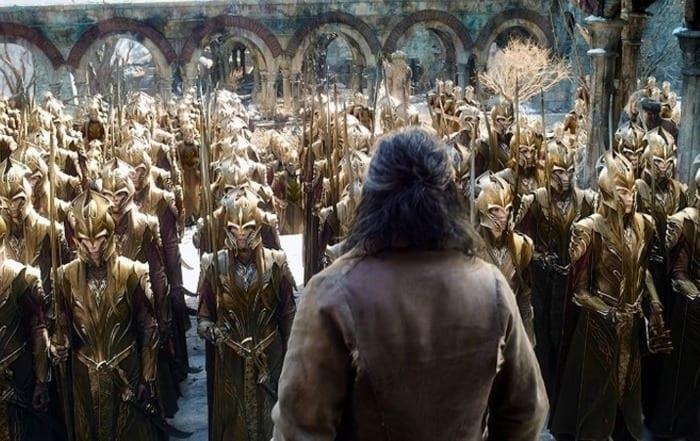 """Una scena del film """"Lo hobbit"""": la battaglia delle 5 armate"""""""