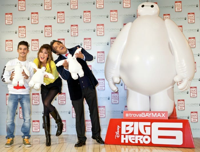 Moreno, Virginia Raffaele e Flavio Insinna all'anteprima italiana di Big Hero 6