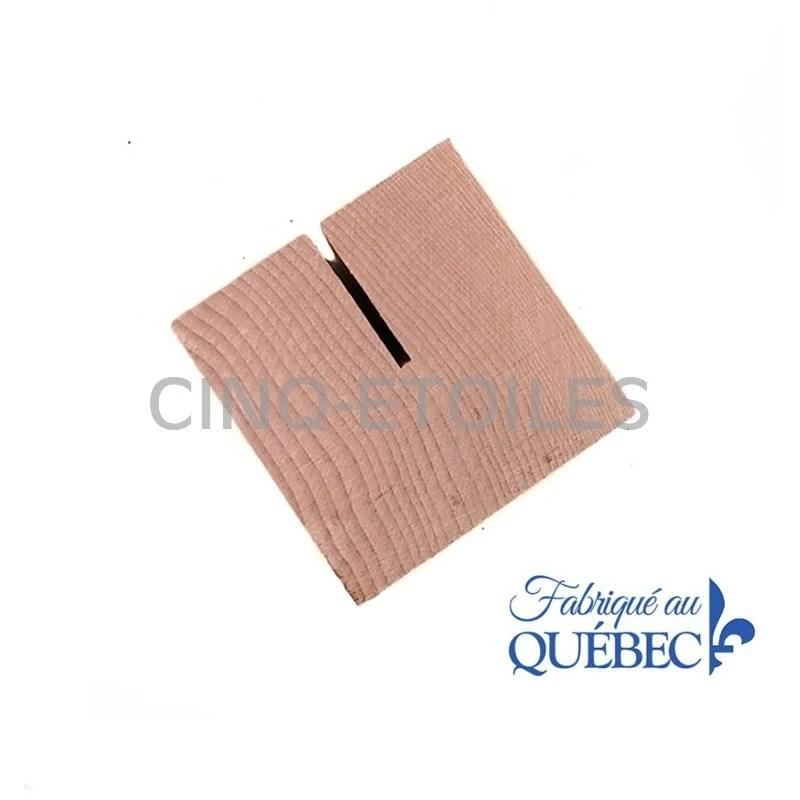 support cube bois pour menu