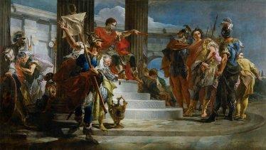 Scipione l'africano libera Massiva in un quadro di uno dei più grandi pittori del '700, Giambattista Tiepolo
